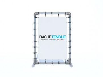 Stop trottoir bâche tendue.