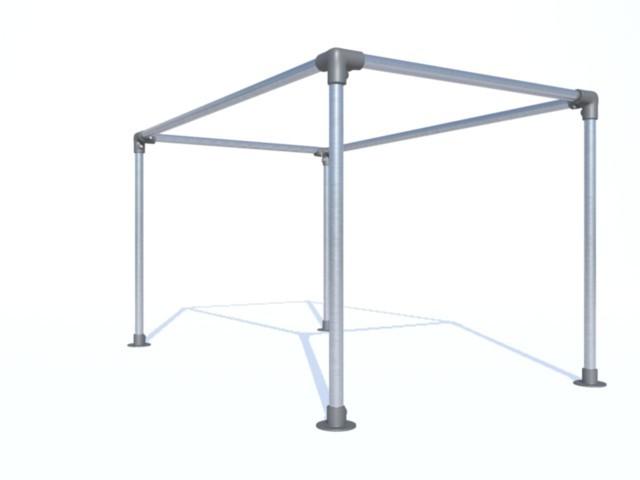 bache tendue tonnelle jardin sur pieds en aluminium id al pour tendre votre b che. Black Bedroom Furniture Sets. Home Design Ideas