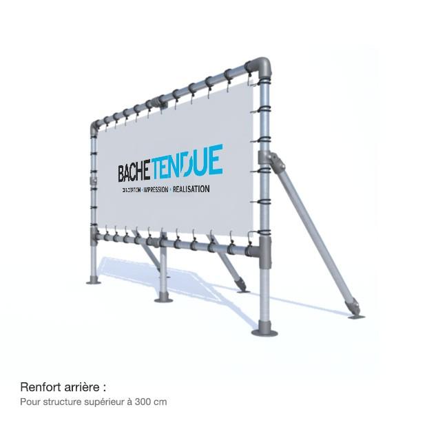 bache tendue panneau publicitaire sur pieds en aluminium avec syst me de b che tendue. Black Bedroom Furniture Sets. Home Design Ideas