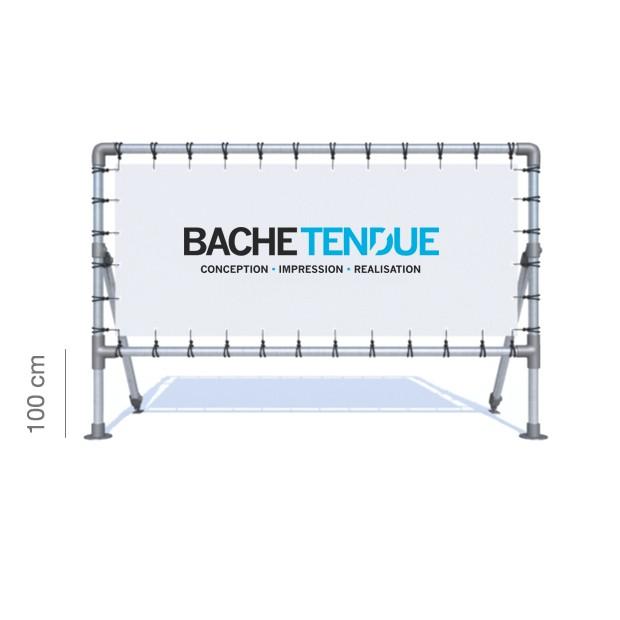 bache tendue panneaux publicitaires sur pieds en aluminium avec syst me de b che tendue. Black Bedroom Furniture Sets. Home Design Ideas