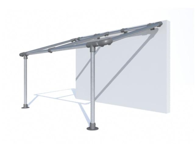 pergola murale sur mesure structure de pergola aluminium. Black Bedroom Furniture Sets. Home Design Ideas