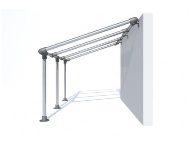 bache tendue pergola murale sur pieds en aluminium id al. Black Bedroom Furniture Sets. Home Design Ideas