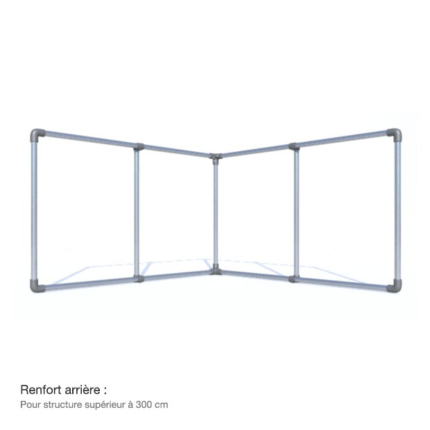 bache tendue structure stand exposition en aluminium