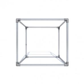 Cube promotionnel en bache tendue.