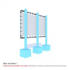 Panneau chantier : Bâche tendue 4x3