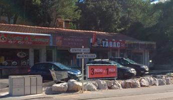 barriere publicitaire pizzeria