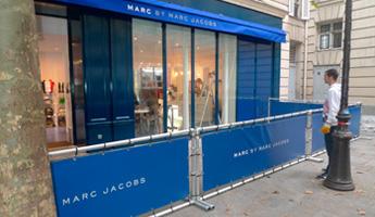 barriere publicitaire boutique marc jacob