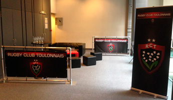 barriere publicitaire club rugby