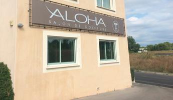 enseigne bache tendue aloha