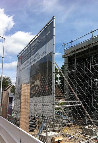 panneaux de chantier
