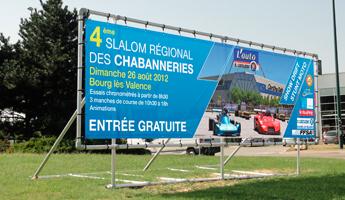 Panneau publicitaire grand format panneaux publicitaire for Panneau publicitaire garage automobile