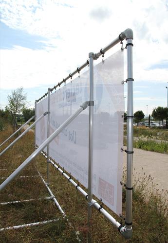 panneaux publicitaires bache tendue